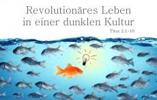 Revolutionäres Leben in einer dunklen Kultur*