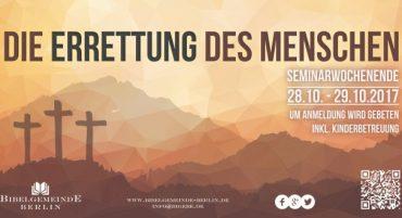 Seminar Die Errettung des Menschen